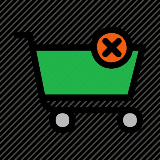 cart, cross, delete, shopping icon