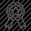 award, badge, best, emblem, label, quality, ribbon icon