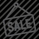 commerce, discount, e, label, marketing, sale, tag icon
