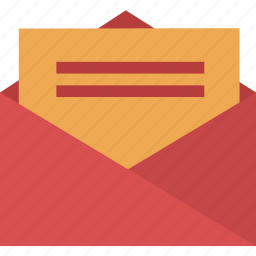 email, envelope, file, letter, mail, message, open icon