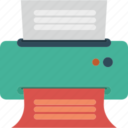 document, files, office, paper, print, printer icon