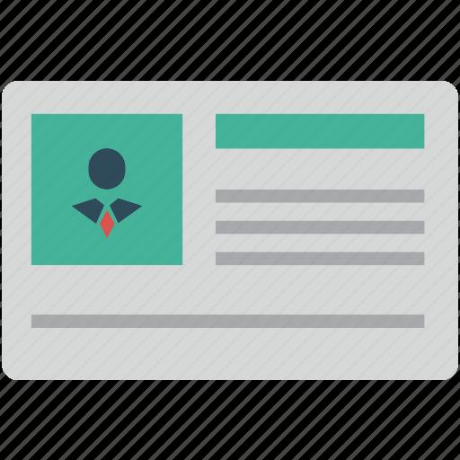 account, admin, avatar, details, id, person, profile, users icon