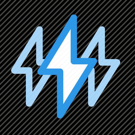 fast, lightning, power, speed icon