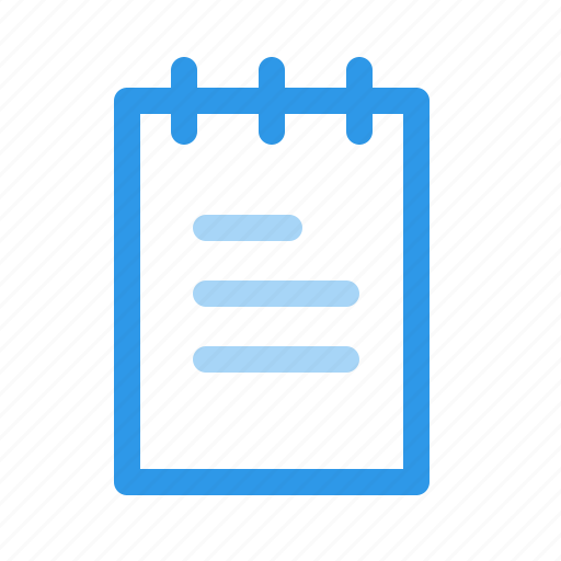 notepad, sheet, text, write icon