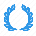 award, best, fisrt, laurel icon