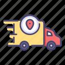 delivery, fast, location, map, service, transport, transportation