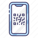code, mobile, phone, qr, scan, smartphone icon