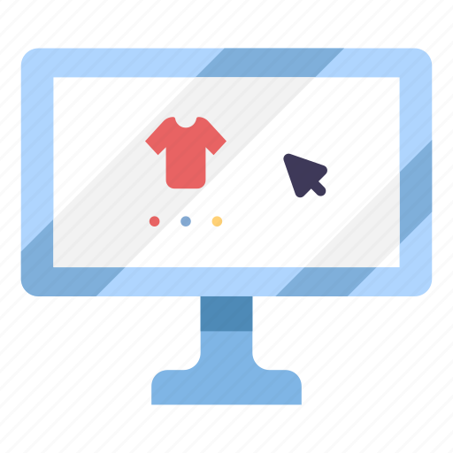 buy, computer, online, purchase, sale, shirt, shopping icon