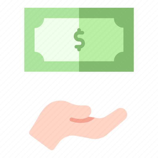 Coin, currency, donation, finance, hand, hold, money icon - Download on Iconfinder