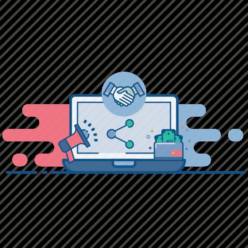 branding, collboration, connection, joint, marketing, partnership, venture icon