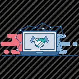 agreement, business, deal, handshake, partnership, public, relation icon