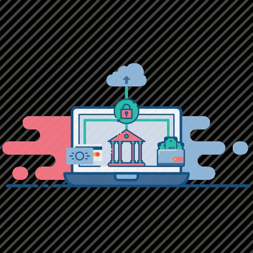 banking, cloud, ebanking, internet, net, secure, web icon
