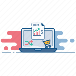 analytics, cart, chart, ecommerce, online, report, sales icon