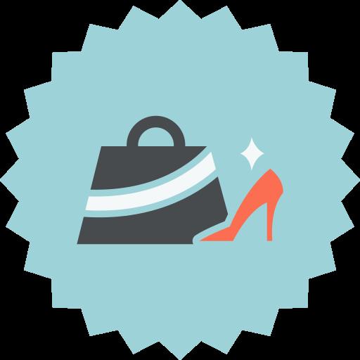 accessories, bag, fashion, female, shoe icon