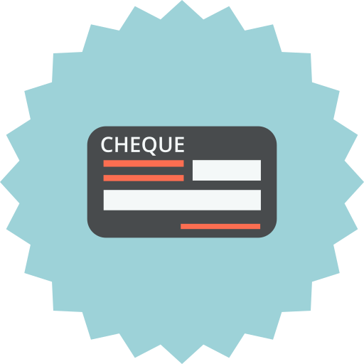 bill, blank, check, cheque, payment, payment methode icon
