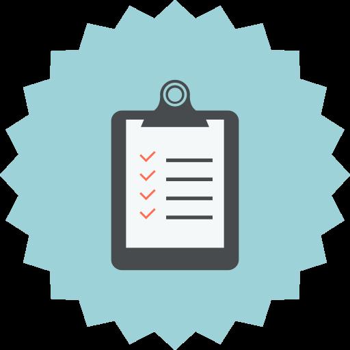 checked, checklist, checkmark, clipboard, notepad, report, tasks icon