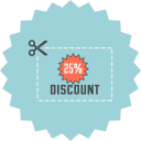 coupon, cut, discount, ecommerce, price, save, voucher icon