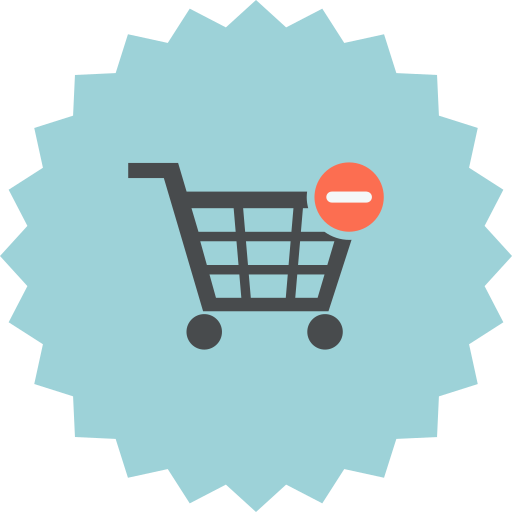 cart, delete, ecommerce, empty, online shopping, remove, shopping icon