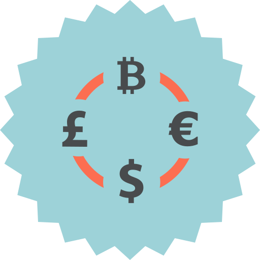 bitcoin, british, dollar, euro, exchange, pound, rate icon