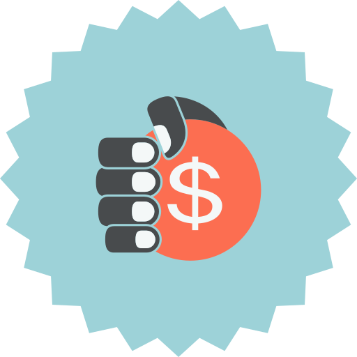 coin, dollar, ecommerce, hand, hand holding coin, hand with dollar, sign icon