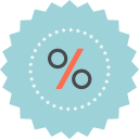 discount, ecommerce, percentage, sale, sign icon