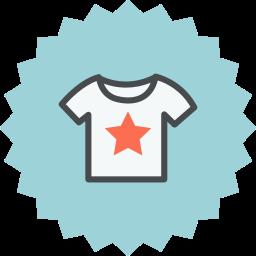 cloth, clothes, clothing, shirt, star, t-shirt, tshirt icon