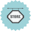 ecommerce, retro, shop, shopping, sign, store icon