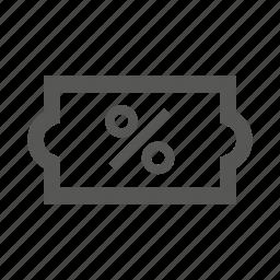 %, discount, label, sale, tag icon