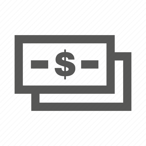 $, cash, currency, dollar, money, notes, payment icon
