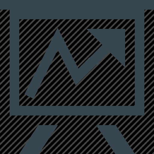 analytics, chart, diagram, finance, flipchart, office, statistics icon