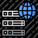 commerce, digital, global, internet, online, server, technology icon