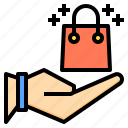 bag, commerce, digital, internet, online, shopping, technology icon