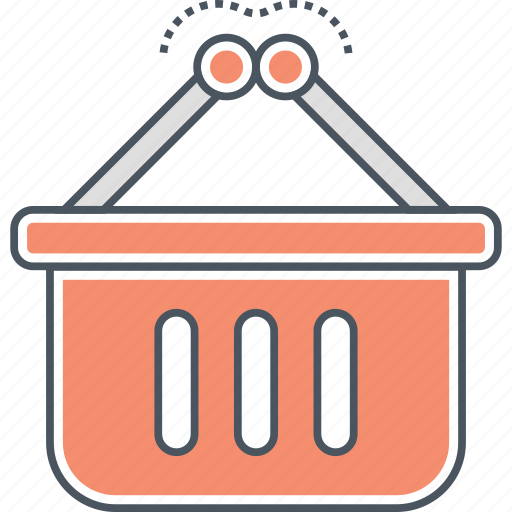 basket, grocery, shopping icon