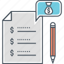 budget, budget list, budgeting icon