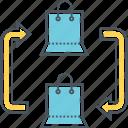 c2c, consumer to consumer, customer to customer icon