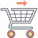 cart, check out, checkout, trolley icon