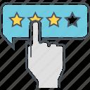 feedback, review, stars, testimonial icon