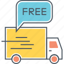 free delivery, free shipping icon