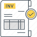 invoice, payment invoice, sales invoice icon