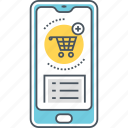 mobile commerce, mobile shopping, mobile shopping app, online shopping icon