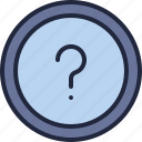 business, company, ecommerce, economy, faq icon
