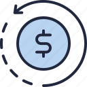 business, company, ecommerce, economy, refund icon