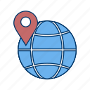 earth, global, globe, map, planet, world icon