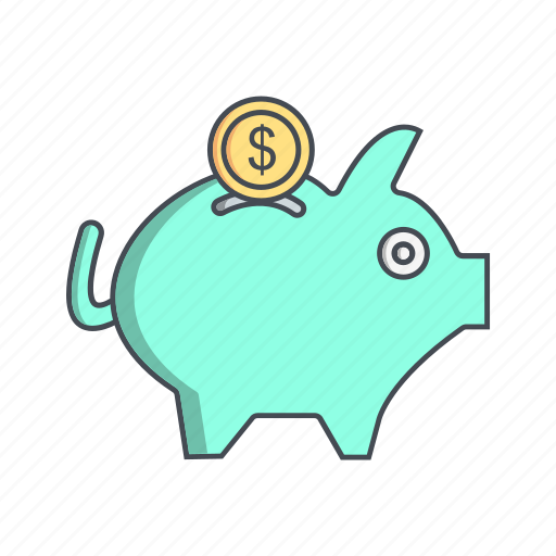 finance, money, piggy bank, savings icon