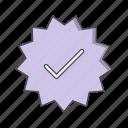 badge, stamp, valid badge, valid stamp icon