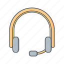 communication, headphone, headphones, headset icon