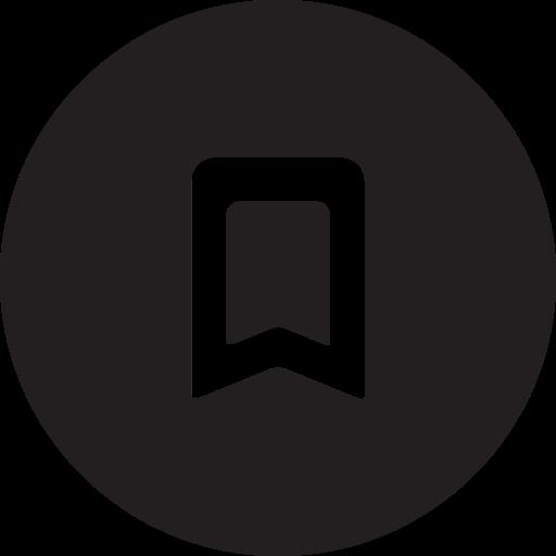 bookmark, full, guardar, mark, round, save icon