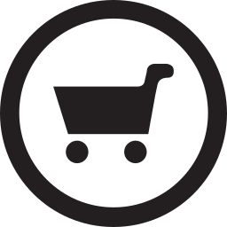 cart, linecon, products, round icon