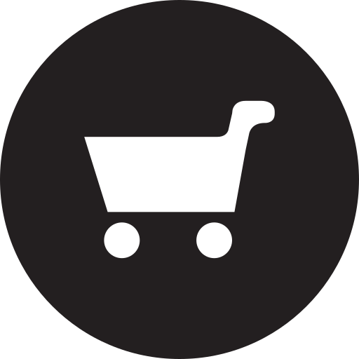 cart, full, products, round icon