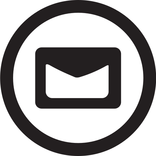 contact, email, linecon, mail, message, round icon